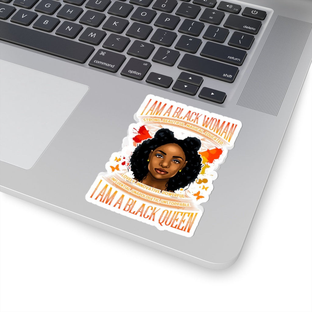 Black Girl Magic Sticker I Am a Black Woman I Am a Black Queen Stickers Afro African Melanin Diva Laptop Planner Tumblr Car Wedding Birthday