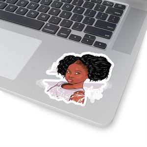 Baby Girl Afro Puffs Child Black Girl Magic Sticker Kids Love Pride Stickers African Melanin Diva Laptop Planner Tumblr Car Birthday School