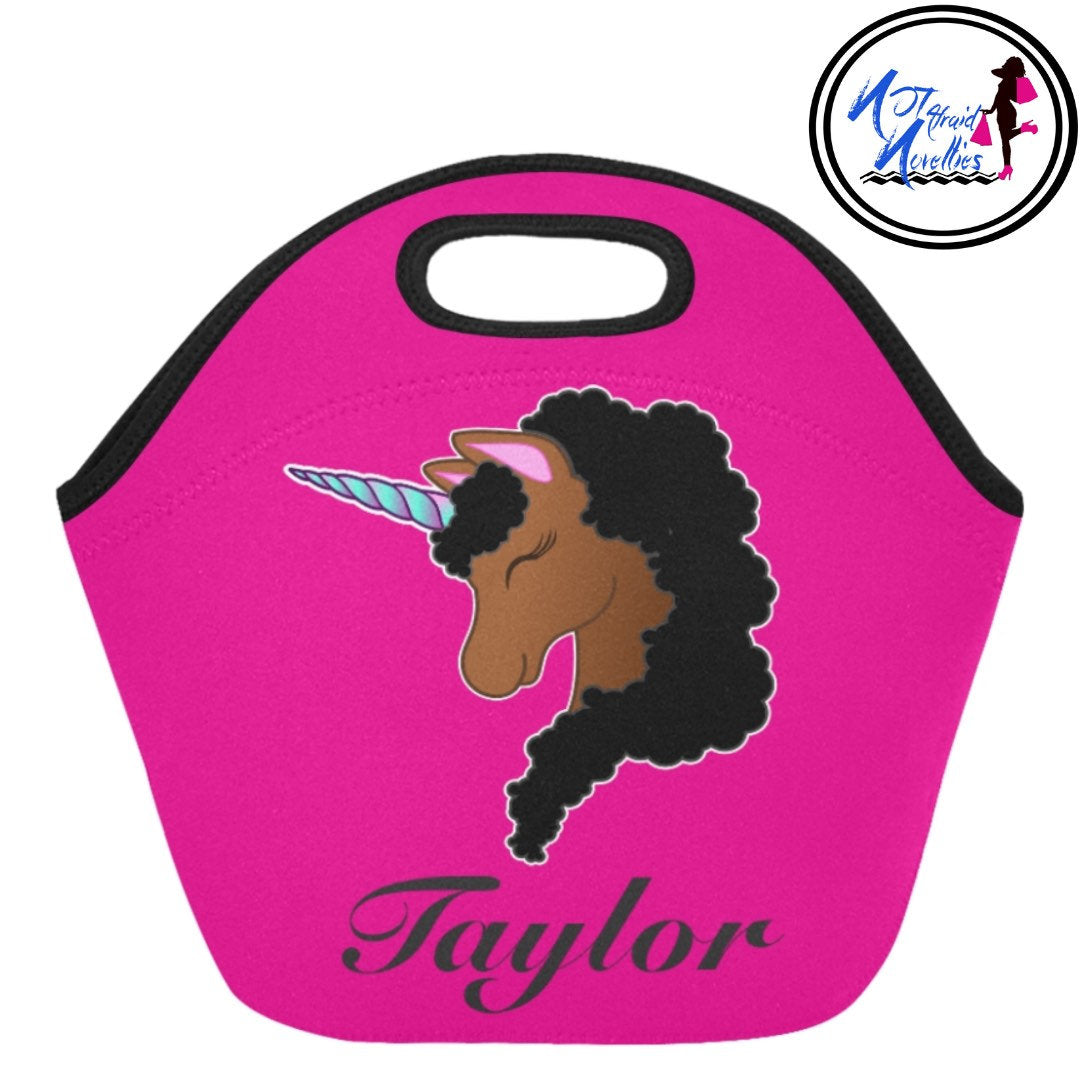 African American Unicorn Backpacks & lunch bag. Back to school accessories! Black girl magic! Personalized Backpacks and Lunch Bag. Girlie.
