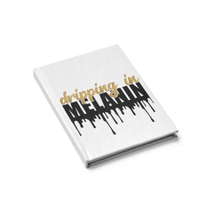 Dripping in Melanin Journal - Blank, Art Book, Sketch Book, Drawing Pad, Notebook, Stationery, African American, Black, Office