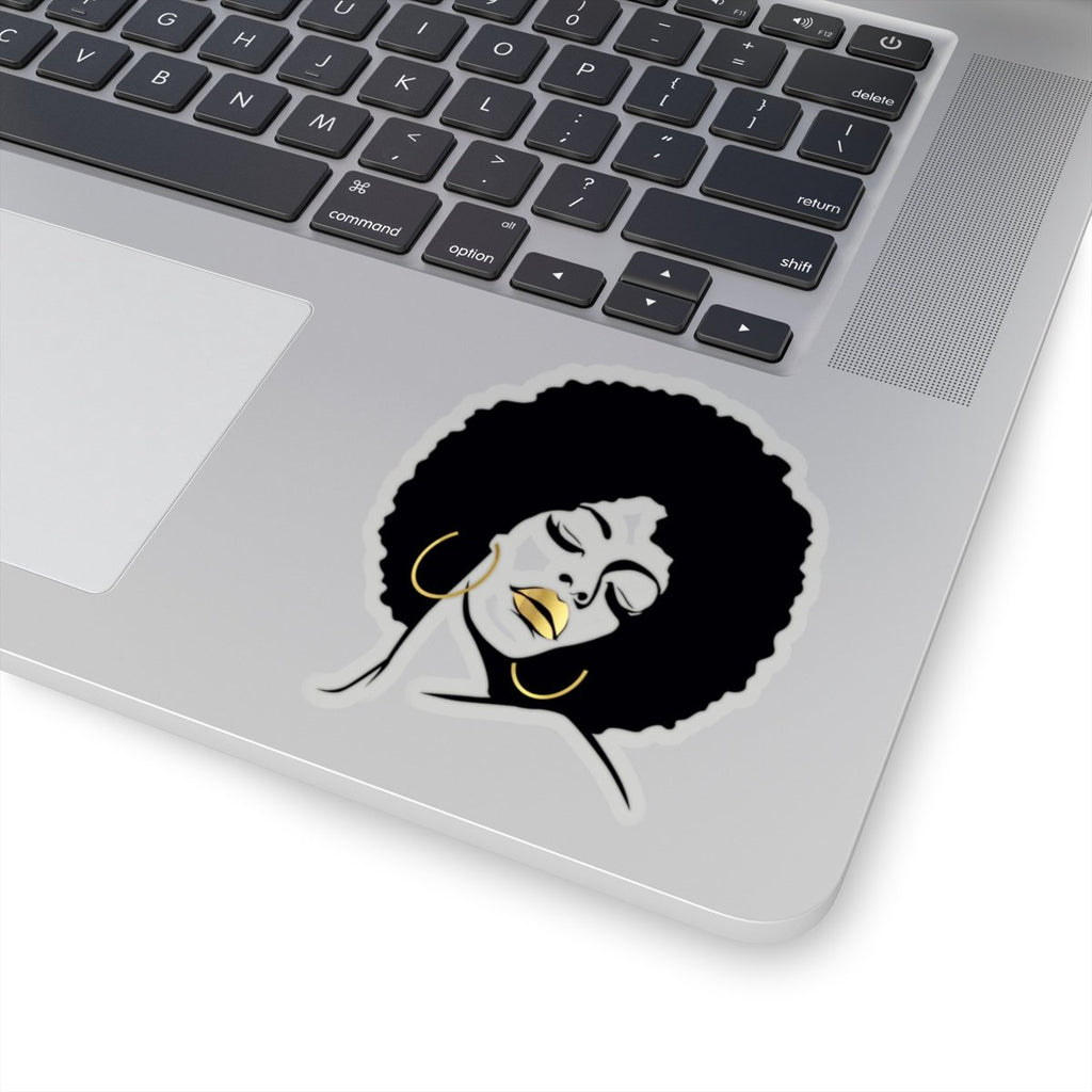 Black Girl Magic Afro Diva Sticker Faux Gold Lips Stickers African Melanin Laptop Planner Tumblr Car Wedding Birthday