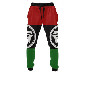 RBG Jogger Sweat Pants w/ Eye of Heru // Eye of Horus // Pan African Clothing // Mens African Clothing // Mens Sweatpants // Jogger Pants