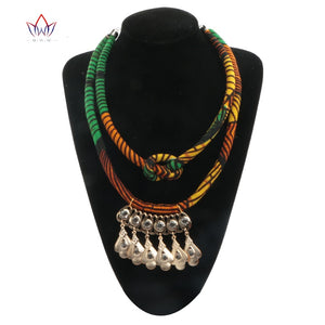 African Accessories for Women Bohemia Style Women Necklaces & Pendants African cotton fabrics  Necklace Pendant For Gift WYB26