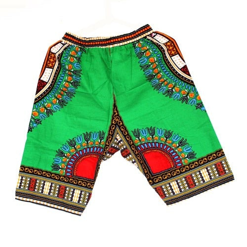 New Fashion Design African Traditional Print Cotton Dashiki Short Men's African Beach short free shipping