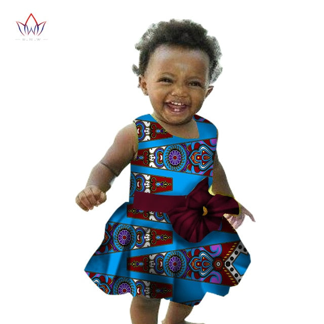 African children's Clothing kids dashiki Traditional cotton Dresses Matching  Africa Print Dresses Children