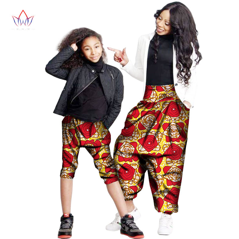 Fashion Family Matching Clothes Mother and daughter loose pants  Family african clothing plus size