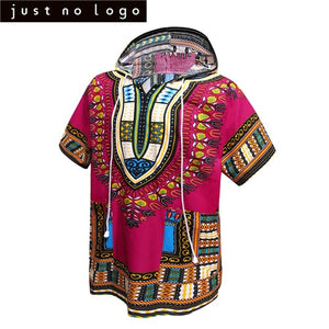 Unisex Women Men's African Dashiki Hoodies T-shirt Boho Hippie Kaftan Festive Tribal Gypsy Ethnic Top Traditional Blouse Dress