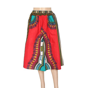 Brand Mr Hunkle New Design Women's Dashiki Dress White Cotton African Print Dashiki Skirt Robe Africaine Femme African Clothing