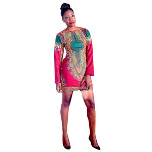 African Dresses Dashiki Africa Clothing Traditional Dress Long Sleeve Fashion Design Dresses