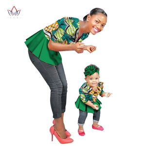 Fashion Family Matching Clothes Brand Mother and  Baby Family Clothing tops Family african clothing