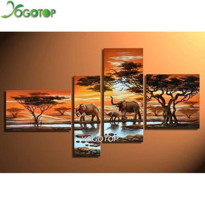 4 piece African Savannah