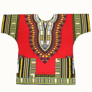 Mr Hunkle New Design 100% Cotton African Print Dashiki Clothing Loose Dashiki T-shirt For Women Men