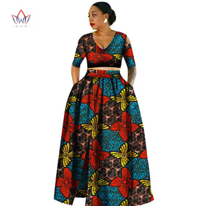 Women african Tradition 2 Piece Plus Size Africa Clothing Fashion Designs Dashiki african wax prints for women clothing