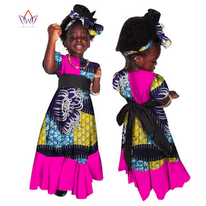 African Clothing kids dashiki Traditional cotton Dresses Matching  Africa Print Dresses Children