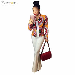 African Coat Women  New Fashion Elastic Traditional Printing Jackets For Lady Coat Outwears Short Cardigans Female