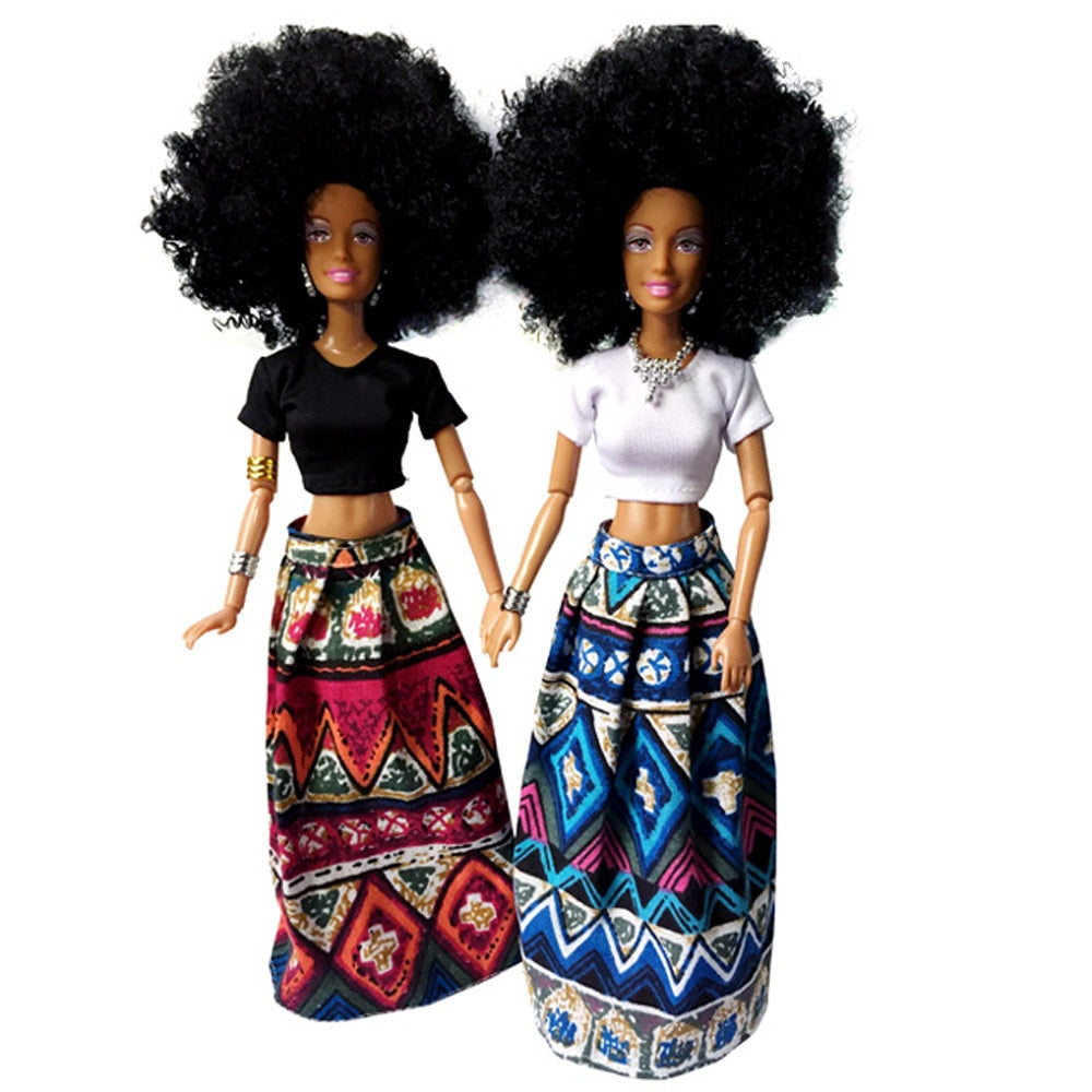 Baby Movable Joint African Doll Toy Black Best Gift Toy toys for children puzzle juguetes educativos montessori