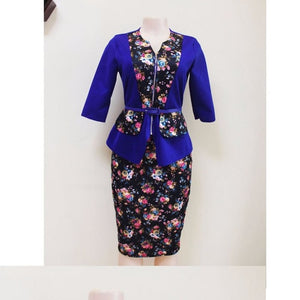 African clothes women tops skirts 2 pcs set suits casual outfit dresses floral skirts suit