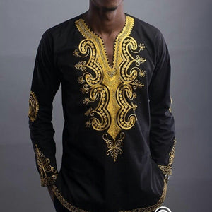 Men's Shirts African Dashiki Clothing Men Traditional Ethnic African Style Printed male shirts Long Sleeve Dashiki Shirt Men