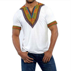 Dashiki Maxi Man's T-shirt Summer Traditional African Clothing T shirt Men Tribal Poncho Mexican Ethnic Boho Tops Plus Size 4XL