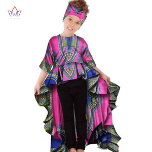 African african clothing for children dashiki Traditional cotton Dresses Matching  Africa Print Dresses Children