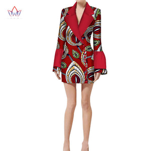 NEW 2018 Autumn Jacket Blouse African Wax Print Clothes Brand Dashiki for Women Plus Size Name Factory Clothing Custom