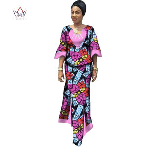 African women two piece Beading print Skirt set african clothing plus size women cotton clothing
