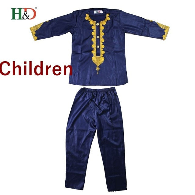 african kids clothing bazin riche dashiki men african clothes south africa shirt pant two 2 piece suits parents children set