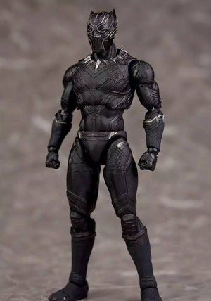 SHFiguarts Captain America Civil War Black Panther PVC Action Figure Collectible Model Toy 16cm Boxed Gift
