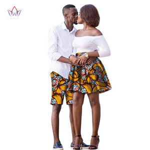 The New listing LoversWomen skirt Men shorts African Clothing Matching Dashiki Couples Clothes summer 6xl cotton
