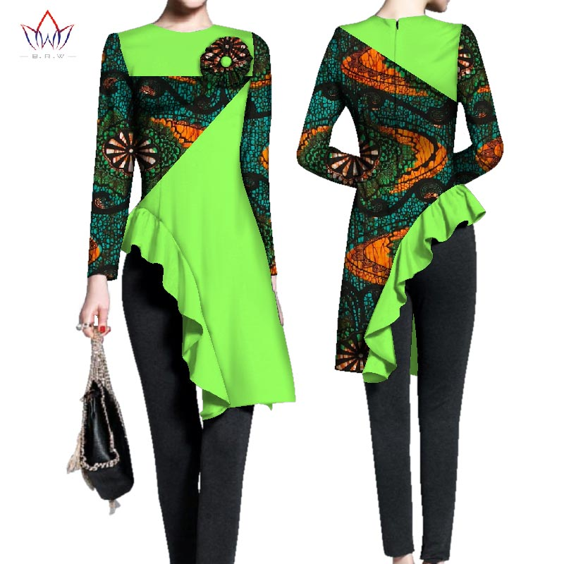 African tops for women full sleeve top o-neck womens african plus size clothing irregular 3xl 4xl 5xl