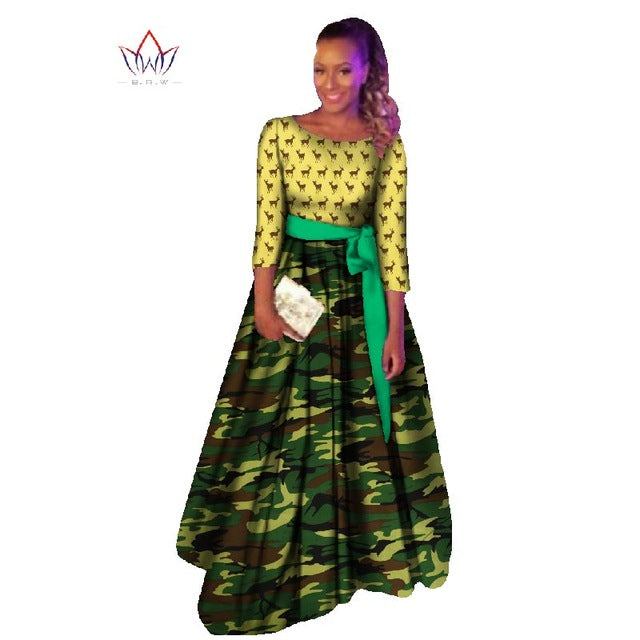 Plus Size african dashiki dresses cotton traditional african Clothing party dress o-neck