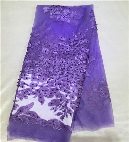 AMY20125D purple color high quality african guipure cord lace fabric, swiss voile lace fabric clothing textile free shipping