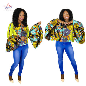 African Womens Clothing 6xl Dashikis other sexy club Tops o-neck plus size cotton