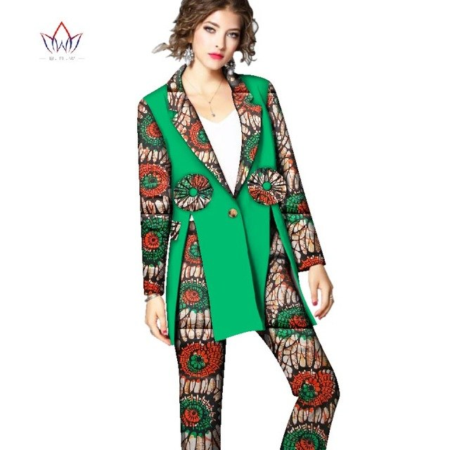 African Dashiki For Women Autumn Top And Pants Set  Women full Suit Traditional African Clothing Print Dashiki Set none  WY2524