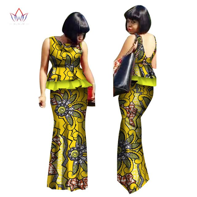 African Skirt Set for Women O-Neck wedding dress African Dashiki Skirt Blouse Design Tracksuit Cotton Clothing 6xl