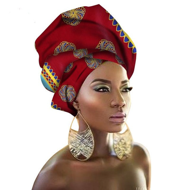 Women Headtie Traditional Head Wrap Headkerchief Scarf Kerchief Turban dashiki wax fabric 100% cotton 90*100cm