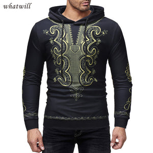 New dashiki african dresses 3d printed hoodies hip hop robe africaine mens africa clothing casual african clothes