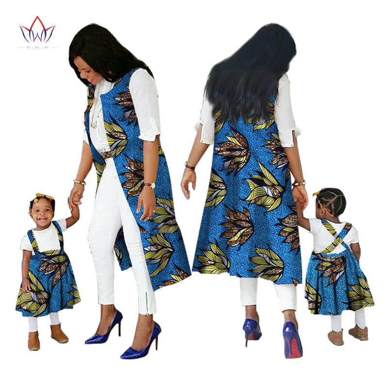 Family Matching Clothes Brand Mother and Baby regular cotton fabric traditional african dashiki clothing