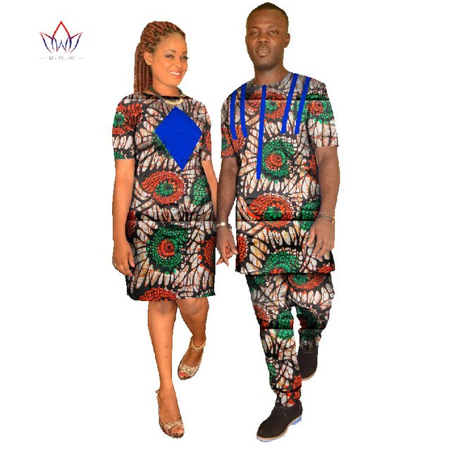 Couples Clothing Anniversary Gift for Couple wedding Dress and Tshirt  african designed clothing traditional dashiki