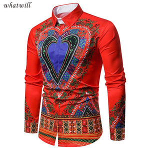 New fashion mens african clothes 3d printed shirts hip hop african dresses dashiki robe africaine casual africa clothing