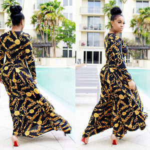 Hot Sale New Design Fashion African Traditional Clothing Print Dashiki Beautiful Neck African Dresses Suit For Lady