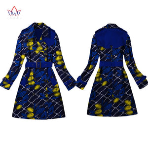 Women African Clothing Dashiki Trench women top  African Style Long Sleeve Outwear Africa Print Dresses Plus Size 6XL WY2103