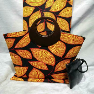Popular high quality super wax with hand bag african wax prints 6 yards fabric dutch wax fabric for sewing !