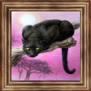 5D diy diamond painting cross stitch black panther diamond embroidery animals diamond mosaic kit home decoration picture pastes