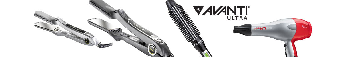 Avanti Ultra Flat Irons, Curling Irons, Hair Dryers and Brushes