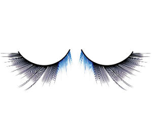 Baci Lingerie Magic Colors Black Blue Deluxe Eyelashes, #550