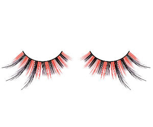 Baci Lingerie Paradise Dreams Black-Red Feather Eyelashes, #614
