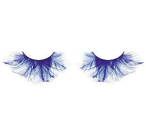 Baci Lingerie Paradise Dreams Blue Feather Eyelashes, #619