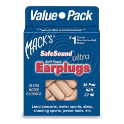 Mack's SafeSound Ultra Soft Foam Earplugs, #925 5 pairs