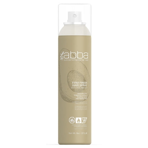Abba Firm Finish Aerosol Hair Spray 8oz